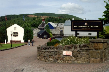 Glenfiddich.distillery.in.Dufftown.Speyside.Scotland