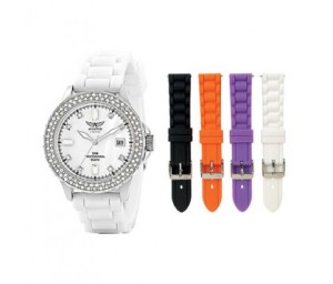 Aviator ladies watch with interchangeable straps