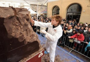 eurochocolate-sculpture